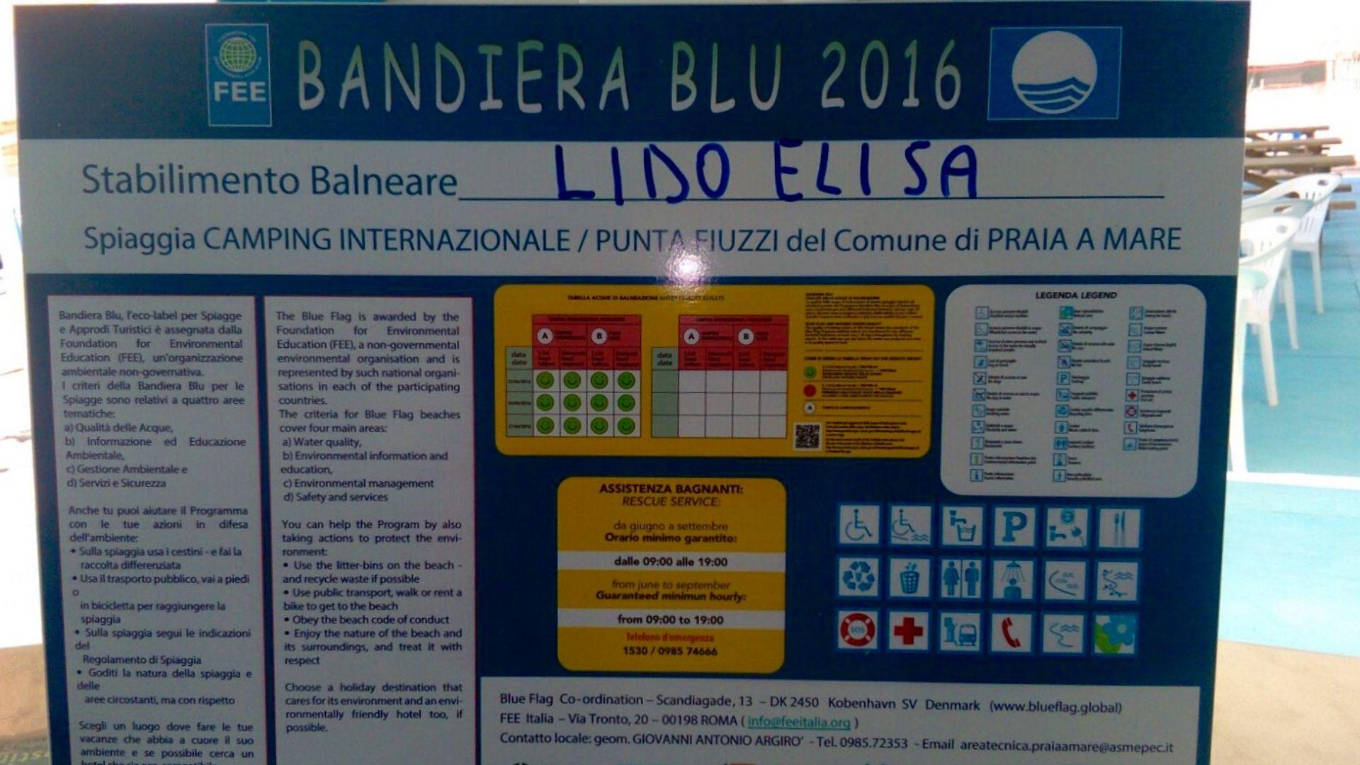 Bandiera Blu al Lido Elisa